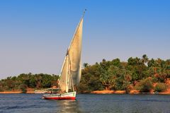 Felucca boat Stock Images