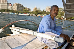Felucca driver Royalty Free Stock Image