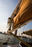 Felucca halyard and boom royalty free stock images