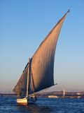 Felucca on the Nile. Luxor Egypt Royalty Free Stock Photo