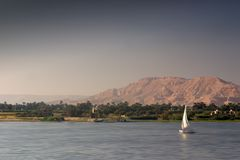 Felucca on the Nile Stock Images
