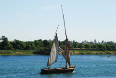 Felucca on the Nile river Stock Image