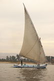 Felucca on Nile River. A felucca(traditional Egyptian sailing vessel) on Nile river at Luxor Stock Image