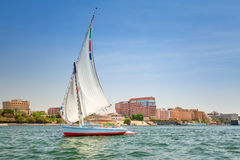Felucca on the Nile river in Luxor Stock Photos