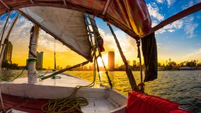 Felucca ride on the Nile royalty free stock images
