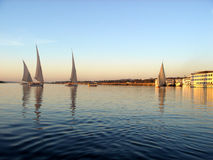 Felucca's on the Nile Stock Photos