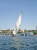 Felucca. Sailing on the River Nile Royalty Free Stock Image