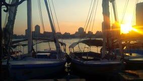 Felucca sur le Nil Image libre de droits