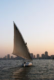 Felucca wake Stock Photos