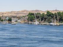 Feluccas στον ποταμό του Νείλου σε Aswan Στοκ Φωτογραφίες