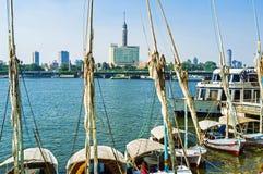 Feluccas i Kairo Arkivfoto