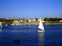 Feluccas na Rzecznym Nil Obrazy Royalty Free