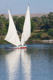 Feluccas on Nile river Stock Photos