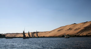 Feluccas on River Nile 7 Royalty Free Stock Photo