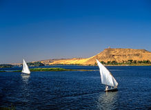 Feluccas on River Nile Royalty Free Stock Images