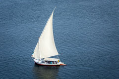 Feluccas sailing on the Nile near Aswan, Egypt Stock Photography