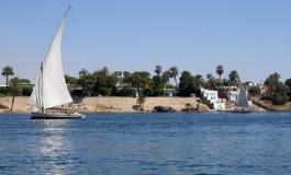 Feluka en el Nilo foto de archivo libre de regalías