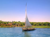 Feluka sailing on Nile Stock Images