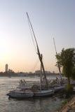 Felukahs au coucher du soleil Photo libre de droits