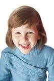 Fem år skratta för flicka Royaltyfria Foton