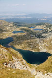 Fem av de sju Rila berg sjöarna Arkivfoton