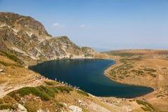 Fem av de sju Rila berg sjöarna Royaltyfri Bild