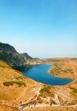 Fem av de sju Rila berg sjöarna Royaltyfri Fotografi