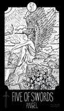 Fem av svärd aneurysmen royaltyfri illustrationer