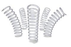 Fem belägger med metall röra sig i spiral Royaltyfria Foton