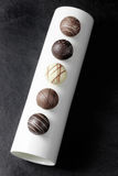 Fem brända mandlar Royaltyfri Fotografi