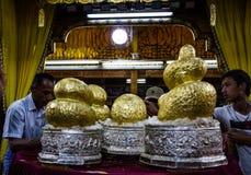 Fem buddha bilder Arkivbilder