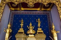Fem buddha statyer Fotografering för Bildbyråer