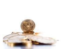 Fem dollar guld- mynt Royaltyfri Bild