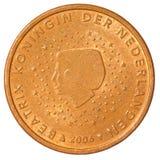 Fem eurocent mynt Fotografering för Bildbyråer
