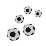Fem fotbollar. Vektorillustration Royaltyfri Illustrationer
