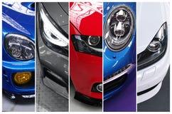 Fem foto av toppna bilar Arkivfoto