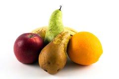 fem frukter Arkivfoton