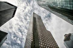fem houston skyskrapor Royaltyfri Bild