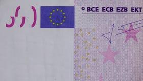 Fem hundratals 500 eurosedlar Royaltyfria Foton