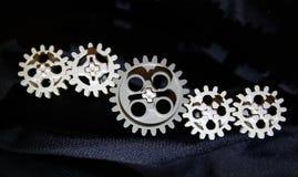 Fem kugghjul, får förbindelse Royaltyfri Fotografi
