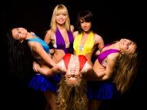 fem lagkvinnor Royaltyfria Bilder