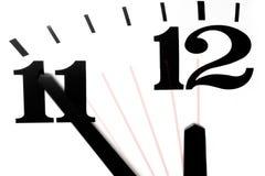 fem midnight minuter till Arkivfoton