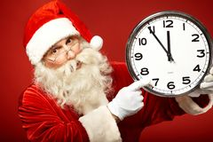 Fem minuter till jul Royaltyfria Foton