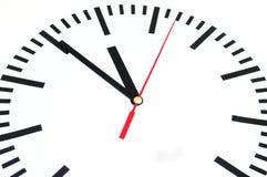 fem minuter till tolv Fotografering för Bildbyråer