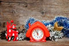 fem minuter till tolv nytt år Arkivfoton