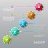 Fem moment Infographics Arkivfoto