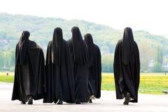 Fem nunnor Royaltyfri Foto