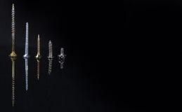 fem olika scaleskruvformat Royaltyfria Foton