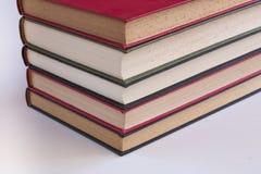 Fem staplade böcker fotografering för bildbyråer