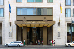 Fem-stjärna hotell Waldorf Astoria Arkivfoton